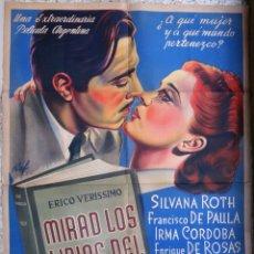 Cine: CARTEL CINE , MIRAD LOS LIRIOS DEL CAMPO , ARGENTINA , ILUSTRADOR RAF , LITOGRAFIA , ORIGINAL . Lote 172080022