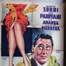 Cine: CARTEL CINE, EL IRRESISTIBLE SEDUCTOR 1956 , ARGENTINA , ILUSTRADOR CARRI , LITOGRAFIA , ORIGINAL . Lote 172080204
