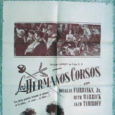 Cine: CARTEL CINE, CUBANO , LOS HERMANOS CORSOS , HABANA CUBA , ORIGINAL. Lote 172080797