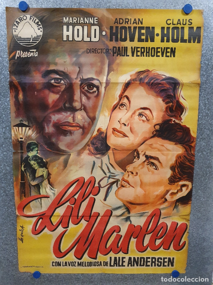 LILI MARLEEN. ADRIAN HOVEN MARIANNE HOLD CLAUS HOLM. POSTER ORIGINAL LITOGRAFIA (Cine - Posters y Carteles - Musicales)