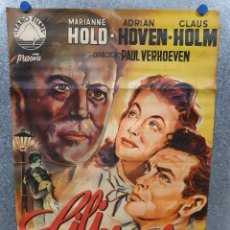 Cine: LILI MARLEEN. ADRIAN HOVEN MARIANNE HOLD CLAUS HOLM. POSTER ORIGINAL LITOGRAFIA. Lote 172170929