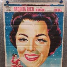 Cine: MARIA MORENA. PAQUITA RICO. AÑO 1961. POSTER ORIGINAL LITOGRAFIA. Lote 172480954