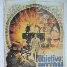Cine: OBJETIVO PATTON - POSTER CARTEL ORIGINAL - SOFIA SOPHIA LOREN JOHN CASSAVETES MAX VON SYDOW. Lote 172563945