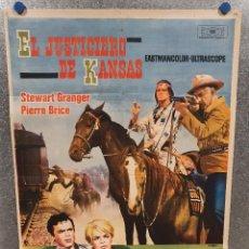 Cine: EL JUSTICIERO DE KANSAS. STEWART GRANGER, PIERRE BRICE, LARRY PENNELL. AÑO 1966. POSTER ORIGINAL. Lote 172571485