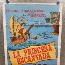 Cine: LA PRINCESA ENCANTADA. POSTER ORIGINAL. Lote 172699247