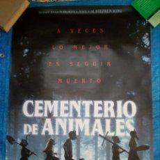 Cine: CARTEL CINE CEMENTERIO DE ANIMALES - STEPHEN KING - 98X68. Lote 172725650