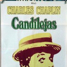 Cine: CANDILEJAS. CHARLES CHAPLIN. CARTEL ORIGINAL 1975. 70X100. Lote 172806944