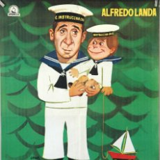 Cine: CATETO A BABOR. ALFREDO LANDA-JOSÉ SACRISTÁN. CARTEL ORIGINAL 1976. 70X100. Lote 172806999