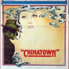 Cine: CHINATOWN. JACK NICHOLSON-FAYE DUNAWAY-JOHN HUSTON. CARTEL ORIGINAL 1974. 70X100. Lote 172807072