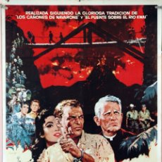 Cine: EL DIABLO A LAS 4. FRANK SINATRA-SPENCER TRACY. CARTEL ORIGINAL 1962. 70X100. Lote 172807955