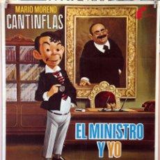 Cine: EL MINISTRO Y YO. MARIO MORENO CANTINFLAS. MIGUEL DELGADO. CARTEL ORIGINAL 1976. 70X100. Lote 172808709