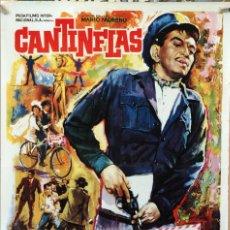 Cine: ENTREGA INMEDIATA. MARIO MORENO CANTINFLAS. MIGUEL DELGADO. CARTEL ORIGINAL 1966 70X100. Lote 172810432