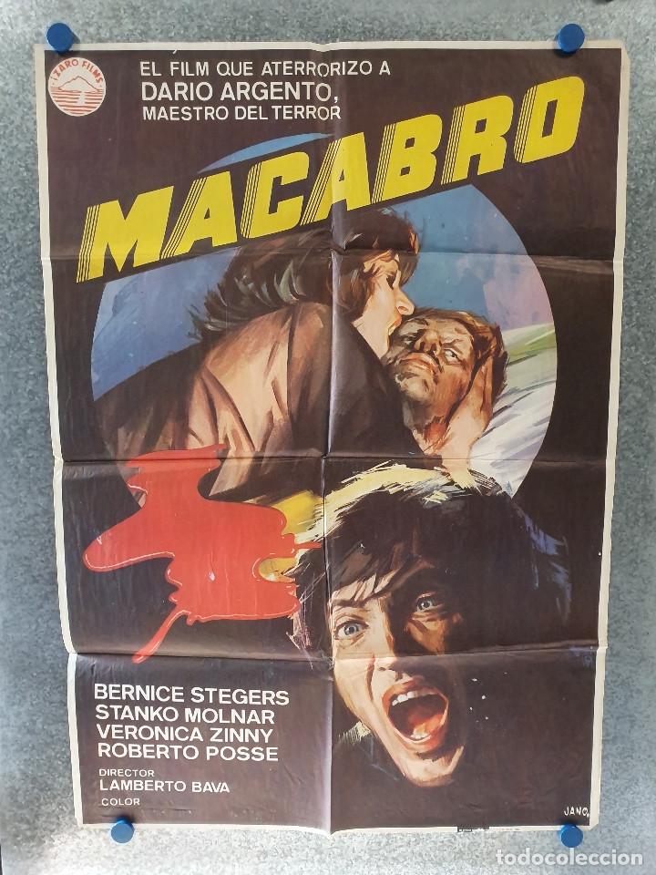 MACABRO. BERNICE STEGERS, STANKO MOLNAR, VERONICA ZINNY. AÑO 1980. POSTER ORIGINAL (Cine - Posters y Carteles - Terror)