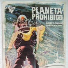 Cine: PLANETA PROHIBIDO - CARTEL POSTER ORIGINAL ESTRENO - FORBIDDEN PLANET WALTER PIDGEON ANNE FRANCIS. Lote 172852969