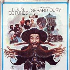 Cine: LAS LOCAS AVENTURAS DE RABBI JACOB. LOUIS DE FUNES. CARTEL ORIGINAL 1974. 70X100. Lote 172858137