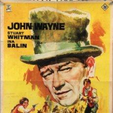 Cine: LOS COMANCHEROS. JOHN WAYNE. CARTEL ORIGINAL 1962. 70X100. Lote 172858257