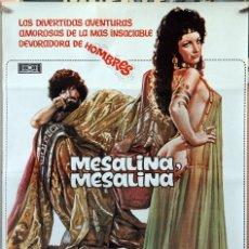 Cine: MESALINA, MESALINA. BRUNO CORBUCCI. CARTEL ORIGINAL 1977. 70X100. Lote 172858345