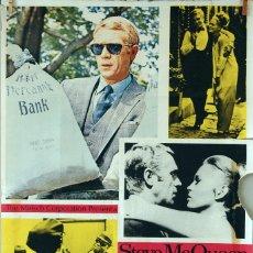Cine: EL CASO DE THOMAS CROWM. STEVE MACQUEEN-FAYE DUNAWAY. CARTEL ORIGINAL 1968 70X100. Lote 172872223