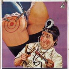 Cine: PEPITO MÉDICO DEL SEGURO. ÁLVARO VITALI. CARTEL ORIGINAL 1982. 70X100. Lote 172872402