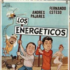 Cine: LOS ENERGÉTICOS. FERNANDO ESTESO-ANDRÉS PAJARES. CARTEL ORIGINAL 1979. 70X100. Lote 172921044
