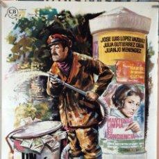 Cine: UN MILLÓN EN LA BASURA. JOSÉ LUIS LÓPEZ VÁZQUEZ. CARTEL ORIGINAL 1967- 70X100. Lote 172922693