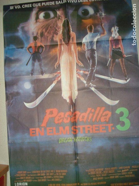 CARTEL DE CINE PESADILLA EN ELM STREET 3 (Cine - Posters y Carteles - Terror)