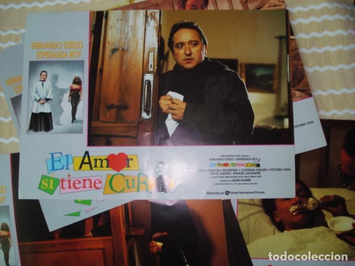 EL AMOR SI TIENE CURA , FERNANDO ESTESO, LOTE DE 11 TARJETAS ESCENA CARD (Cine - Posters y Carteles - Comedia)