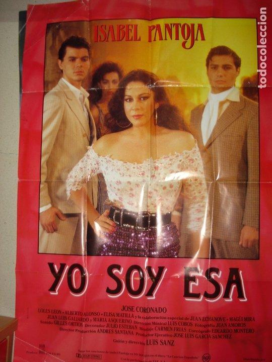 CARTEL DE CINE ISABEL PANTOJA , YO SOY ESA (Cine - Posters y Carteles - Clasico Español)