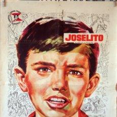 Cine: AVENTURAS DE JOSELITO EN AMÉRICA. ANTONIO DEL AMO. CARTEL ORIGINAL 1960. 70 X100. Lote 173037654