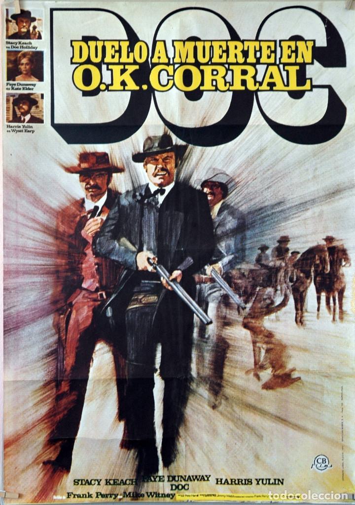 DUELO A MUERTE EN O.K. CORRAL. FAYE DUNAWAY. CARTEL ORIGINAL ESTRENO 1972. 70X100 (Cine - Posters y Carteles - Westerns)