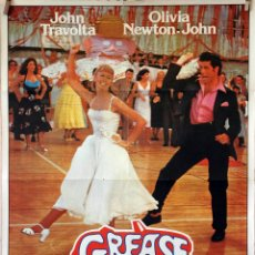 Cine: GREASE. JOHN TRAVOLTA-OLIVIA NEWTON JOHN. CARTEL ORIGINAL 1978. 70X100. Lote 173042482
