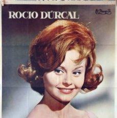 Cine: LA CHICA DEL TRÉBOL. ROCÍO DURCAL. CARTEL ORIGINAL 1963. Lote 173042657