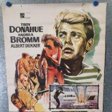 Cine: VEN A ESPIAR CONMIGO. TROY DONAHUE, ANDREA DROMM. AÑO 1968. POSTER ORIGINAL. Lote 173077254