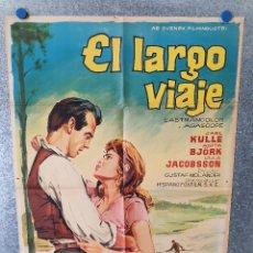 Cine: EL LARGO VIAJE. GUSTAF MOLANDER, ANITA BJORK. AÑO 1964. POSTER ORIGINAL. Lote 173079000