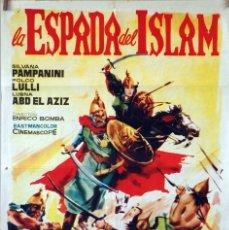 Cine: LA ESPADA DEL ISLAM. ENRICO BOMBA. CARTEL ORIGINAL 1963. 70X100. Lote 173154132