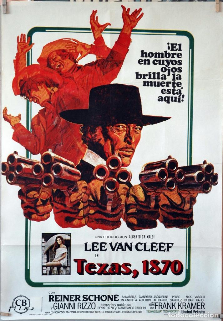 TEVAS, 1870. LEE VAN CLEEF. CARTEL ORIGINAL 1974. 70X100 (Cine - Posters y Carteles - Westerns)