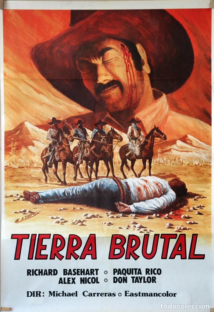TIERRA BRUTAL. PAQUITA RICO. CARTEL ORIGINAL 70X100 (Cine - Posters y Carteles - Westerns)