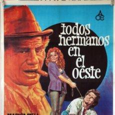 Cine: TODOS HERMANOS EN EL OESTE. SERGIO GRIECO. CARTEL ORIGINAL 1975. 70X100. Lote 173180064
