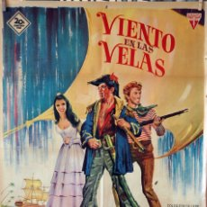 Cine: VIENTO EN LAS VELAS. ANTHONNY QUINN-JAMES COBURN. CARTEL ORIGINAL 1965. 100X70. Lote 173180875