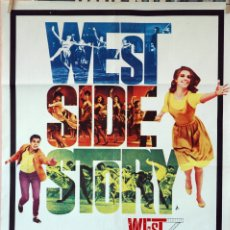 Cine: WEST SIDE STORY, NATALIE WOOD-ROBERT WISE. CARTEL ORIGINAL 1971. 70X100. Lote 173181583