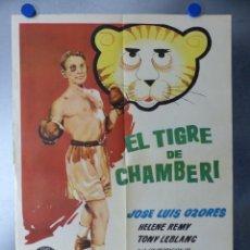 Cine: CARTEL - EL TIGRE DE CHAMBERI - J.L. OZORES, TONY LEBLANC - AÑO 1962 - BOXEO - MEDIDAS 70X50 CM.. Lote 173195690