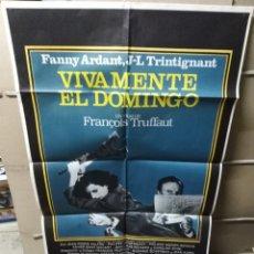 Cinema: VIVAMENTE EL DOMINGO TRUFFAUT POSTER ORIGINAL 70X100 YY (2120). Lote 173204058