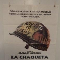 Cine: LA CHAQUETA METÁLICA - MATTHEW MODINE - ADAM BALDWIN - DIRECTOR STANLEY KUBRICK. Lote 173379970