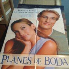 Cine: POSTER CINE : PLANES DE BODA ( JENNIFER LOPEZ ). Lote 173530732