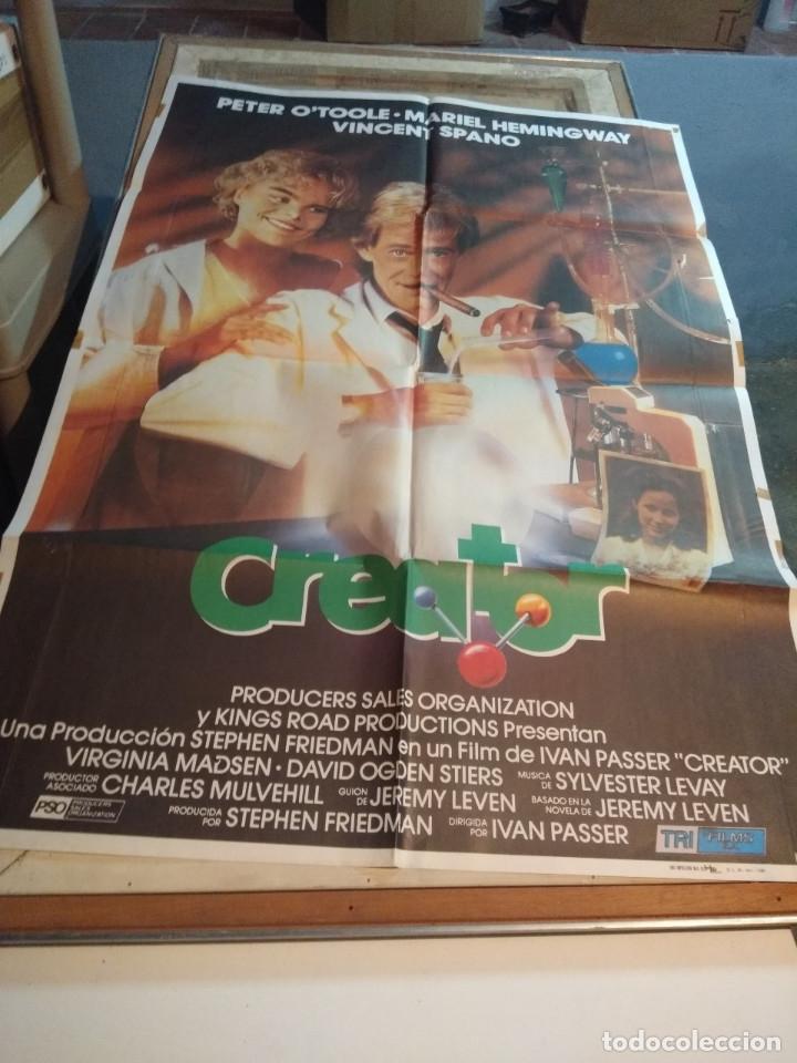 POSTER CINE : CREATOR ( PETER O' TOOLER, MARIEL HEMINGHWAY ) (Cine - Posters y Carteles - Comedia)