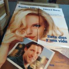 Cine: POSTER CINE : SEIS DIAS Y UNA VIDA ( ANGELINA JOLIE, EDWARD BURNS ). Lote 173531215