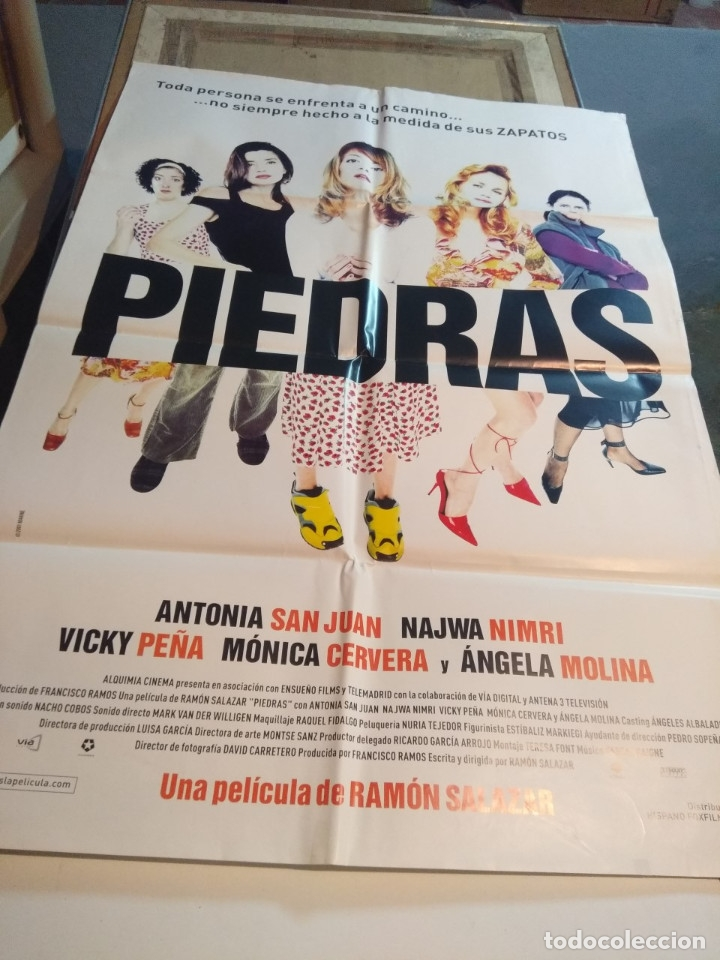 POSTER CINE : PIEDRAS ( ANTONIA SAN JUAN, NAWJA NIMRI, ANGELA MOLINA ) (Cine - Posters y Carteles - Comedia)