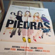 Cine: POSTER CINE : PIEDRAS ( ANTONIA SAN JUAN, NAWJA NIMRI, ANGELA MOLINA ). Lote 173531459