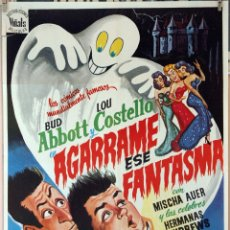 Cine: AGARRAME ESE FANTASMA. ABBOTT Y COSTELLO. CARTEL ORIGINAL 1975. 70X100. Lote 173567089