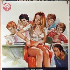 Cine: LA COLEGIALA. GLORIA GUIDA. CARTEL ORIGINAL 1977. 70X100. Lote 173596412